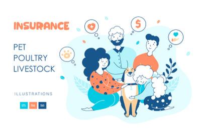 Pet insurance - illustrations