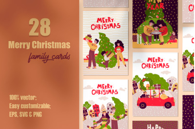 Merry Christmas  -  family holiday cards