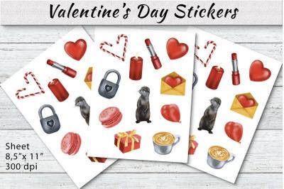Valentine's Day Stickers Bundle