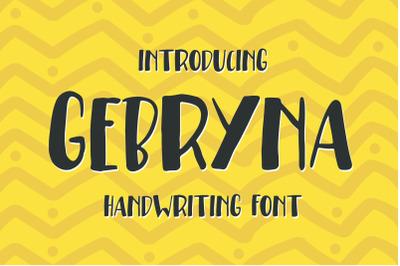 Gebryna Typeface - Handwriting Font