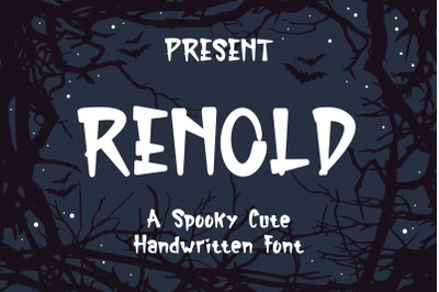Renold Typeface - A Spooky Cute Handwritten Font