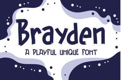 Brayden Typeface - A Playful Unique Font
