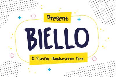 Biello Typeface - A Playful Handwritten Font