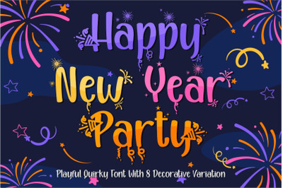 Happy New Year Party - Quirky Font