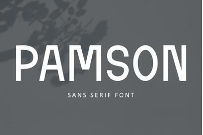 Pamson - Sans Serif Font