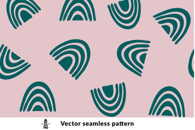 Cute rainbows seamless pattern