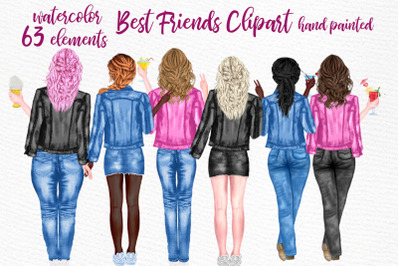 Best Friends Clipart Jeans Jackets Mug design Sublimation