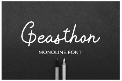 Geasthon - Monoline Font