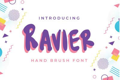 Ravier - Hand Brush Font