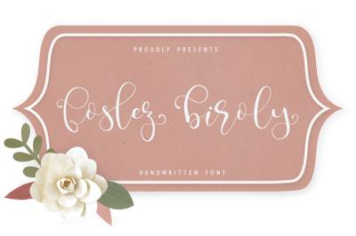 foslez biroly - handwritten font