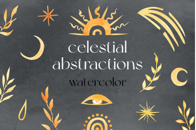 Celestial Abstractions Watercolor