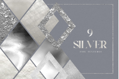 Silver Foil Digital Pack Gold Texture Metallic Shiny Crushed