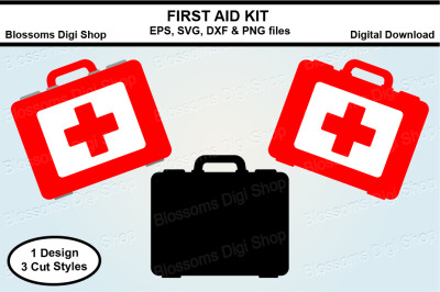 First Aid kit SVG, EPS, DXF and PNG cut files