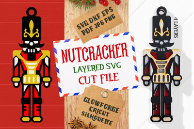 Nutcracker Layered SVG Cut File