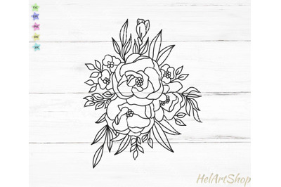 Flower bouquet svg