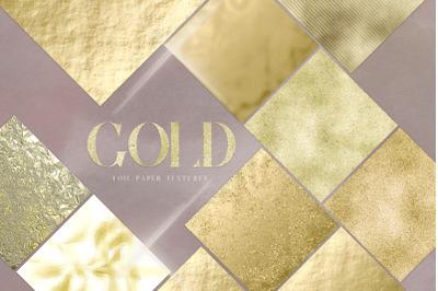 Gold Foil Digital Pack Gold Texture Metallic Shiny Crushed