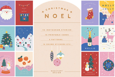 Noel Christmas Greeting Cards