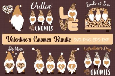 Leopard print Valentine's Gnomes Bundle