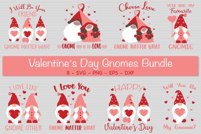 Valentine's Gnomes Bundle Svg