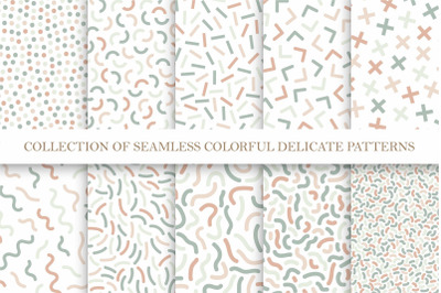 Delicate color seamless patterns