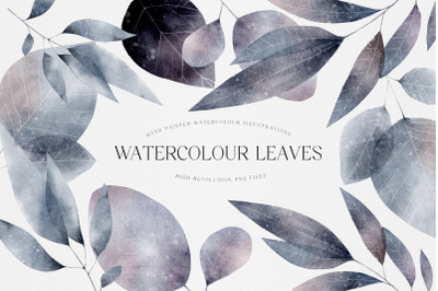 Watercolor Leaves Illustration Whimsical Leaves Hand Painted