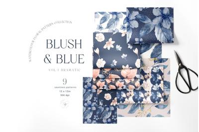 Watercolor Hand Painted Digital Paper Pack Pattern Floral