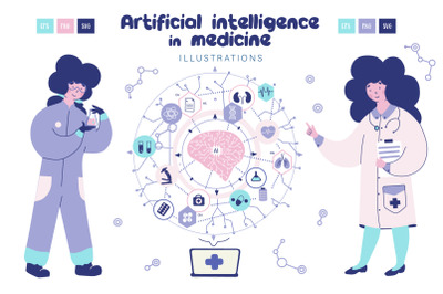 Artificial intelligence in medicine - illustration