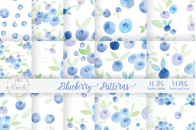 Watercolor Painting Blueberry