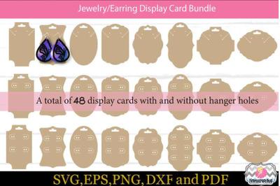Jewelry Display Cards, Earring Display Card, Display Card, Template