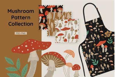 Mushroom pattern collection