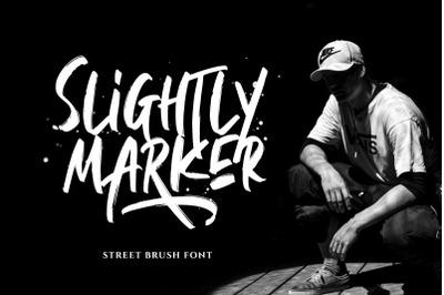 Slightly Marker - Brush Font