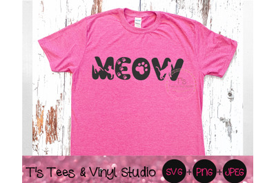 Meow Svg, I Love Cats, Cat Lady, Cat Lover, Feline Crazy, Crazy Cat La