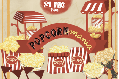 Popcorn Mania - Popcorn Part - Retro Movie Night
