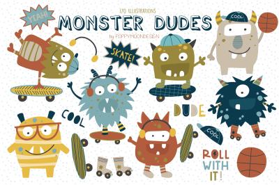 Monster Dudes clipart set