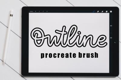 Outline brush for Procreate.