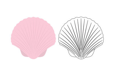 Beach Clam Fill Outline Icon