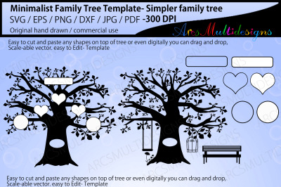 Minimalist family tree template
