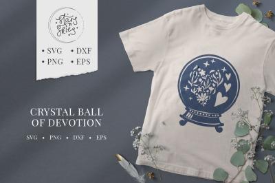 Crystal Ball of Devotion SVG Cut-File