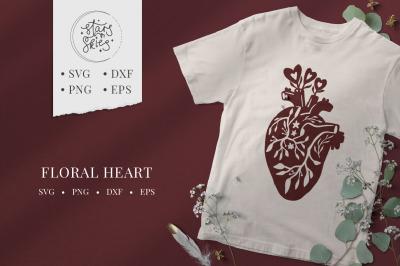 Floral Heart SVG Cut-File