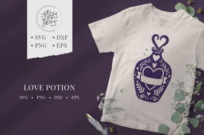 Love Potion SVG Cut-File