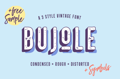 Bujole - A 3 Style Vintage Font
