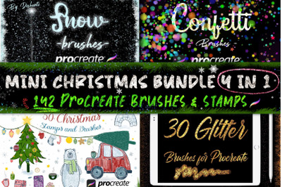 Mini Christmas Bundle Brushes for Procreate 4 in 1