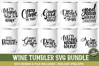 Wine Tumbler SVG Bundle