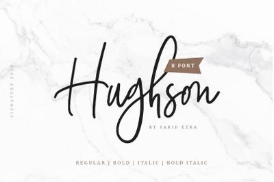 Hughson Script (8 Fonts)