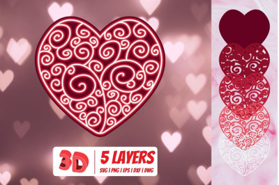3D Valentines Heart