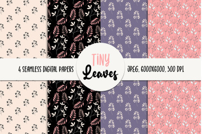 Leaves Seamless Digital Paper - Patterns