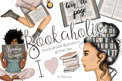 Bookaholic Clipart & Patterns