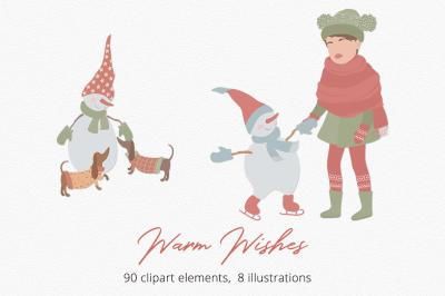 Warm Wishes   Illustration Set