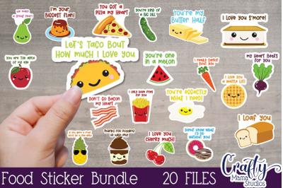 Food Stickers, Valentine's Day Stickers, Kid's Valentine Png