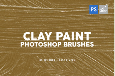 30 Clay Paint Photoshop Stamp Brushes